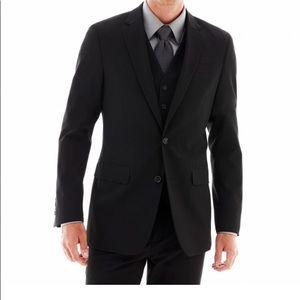 J. Ferrari Slim Fit Suit Sz=S blazer, vest, pants